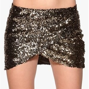 Rut & Circle Jossan Sequine Skirt 051 Black/Gold