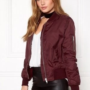 Rut & Circle Kate Bomber Jacket Marsala