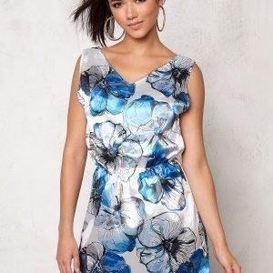 Rut & Circle Lesly Dress Blue Comb