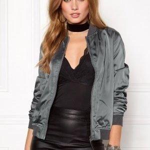 Rut & Circle Linda Bomber Jacket Dk Grey