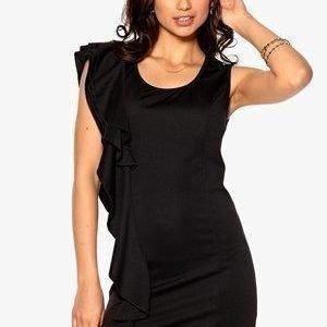 Rut & Circle Melody Frill Dress 001 Musta