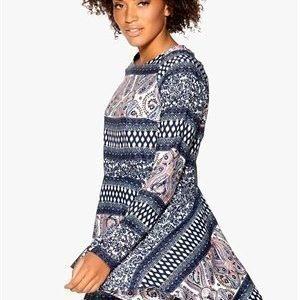 Rut & Circle Must Ellinor dress Blue Comb