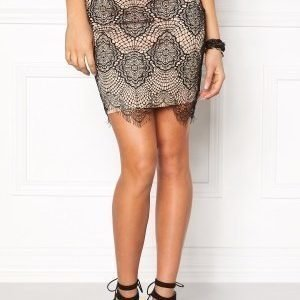 Rut & Circle Nadia lace skirt 516 Champagne