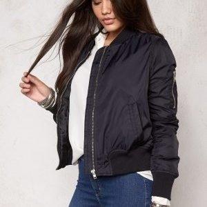Rut & Circle New Kate Bomber Jacket Black/Silver