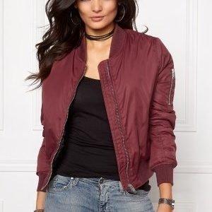 Rut & Circle New Kate Bomber Jacket Bordeaux