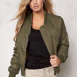 Rut & Circle New Kate Bomber Jacket Vintage Green