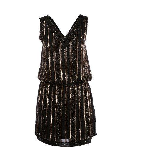 Rut&Circle Must Inga Dress Black/Bronze