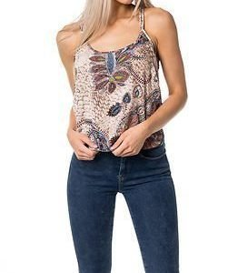 STUDIO Only Smart Cross Strap Top Marshmallow Feather