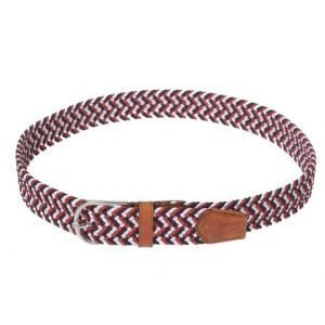 Saddler 78578 Belt Navy/White/Red