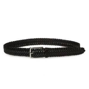 Saddler Braided Leatherbelt Black