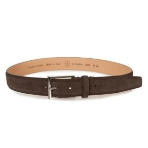 Saddler Suede Belt Dk Brown