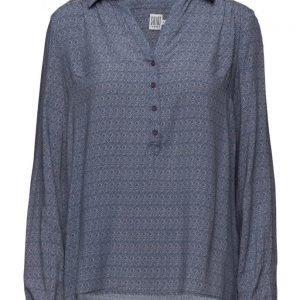 Saint Tropez Boho Tile Printed Shirt pitkähihainen pusero