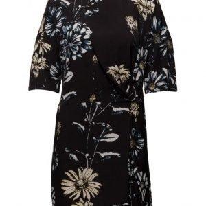 Saint Tropez Daisy Printed Dress W. Knot lyhyt mekko