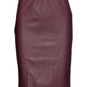 Saint Tropez Faux Leather Skirt kynähame