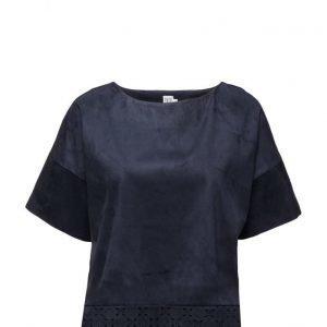 Saint Tropez Faux Suede T-Shirt lyhythihainen pusero