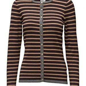 Saint Tropez Knit Cardigan With Stripes neuletakki