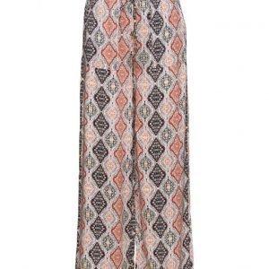 Saint Tropez Printed Flaired Pants leveälahkeiset housut