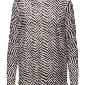 Saint Tropez Printed Sweater pitkähihainen pusero