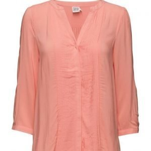 Saint Tropez Shirt W Pintucks pitkähihainen pusero