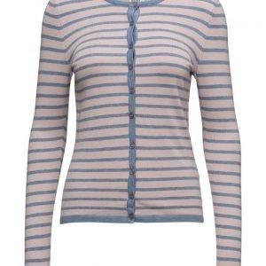 Saint Tropez Striped Cardigan W.Neon Stitch neuletakki