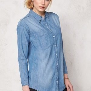 Sally & Circle Josie Denim Shirt Lt Wash
