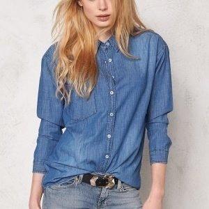 Sally & Circle Josie Denim Shirt Md Wash