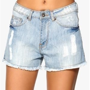 Sally & Circle Prince Tessa Denim Shorts Lt Wash