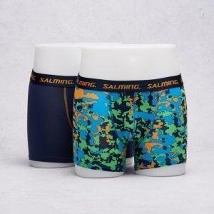 Salming Underwear Davenport 2-pack 735 Solid Navy/Navy Orange Green