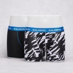 Salming Underwear Raymore 2-pack Boxer 201 Solid Black/Black White