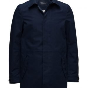 Scotch & Soda Ams Blauw Bonded Trench Coat takki