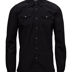Scotch & Soda Ams Blauw Denim Western Shirt