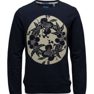 Scotch & Soda Ams Blauw Japanese Sunset Concept Sweat svetari
