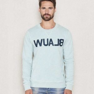 Scotch & Soda Amsterdam Blauw Brand Sweat Dessin Sage