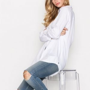Scotch & Soda Button Up Boyfriend Shirt Kauluspaita White