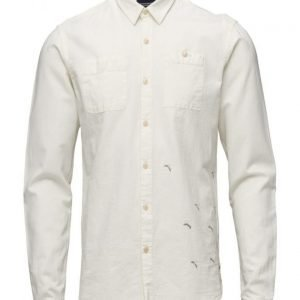 Scotch & Soda Chambray Worker Shirt With Banana Embroidery