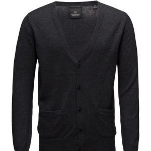 Scotch & Soda Classic Cardigan In Merino/Cotton Quality neuletakki