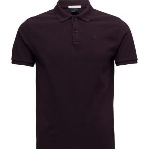 Scotch & Soda Classic Garment Dyed Polo In Cotton Pique lyhythihainen pikeepaita