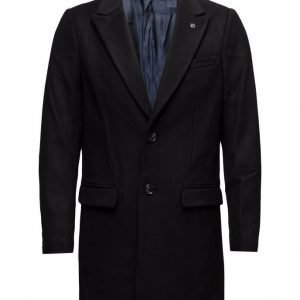 Scotch & Soda Classic Long Coat In Wool Quality villakangastakki