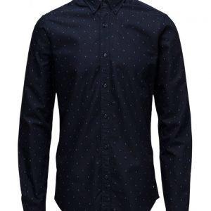 Scotch & Soda Classic Shirt In Rough Oxford Quality