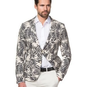 Scotch & Soda Cotton Linnen Printed Blazer Dessin A Printed