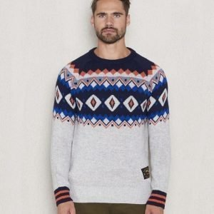 Scotch & Soda Crewneck Fairisle Dessin C Grey