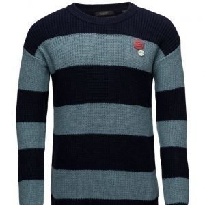 Scotch & Soda Crewneck Pullover In Bold Block Stripes pyöreäaukkoinen neule