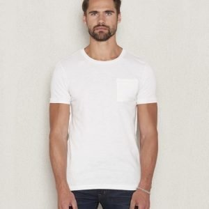 Scotch & Soda Crewneck Tee 0A Denim White