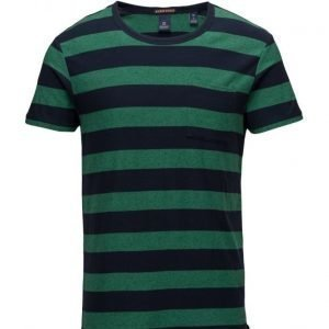 Scotch & Soda Crewneck Tee With Yarn Dyed Stripes lyhythihainen t-paita