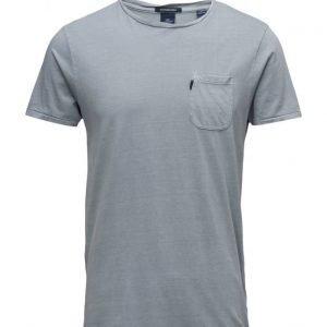 Scotch & Soda Garment Dyed Tee In Slub Jersey Quality lyhythihainen t-paita