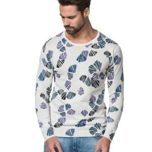Scotch & Soda High Twist Cotton Knit Dessin A Grey