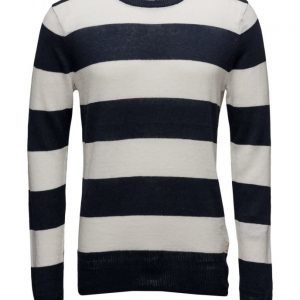 Scotch & Soda Home Alone Crew Neck Cotton Linen Knit pyöreäaukkoinen neule