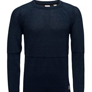 Scotch & Soda Home Alone Structured Crew Neck Knit pyöreäaukkoinen neule