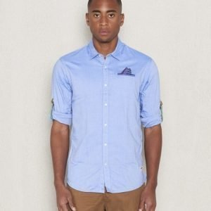 Scotch & Soda L/S Shirt Pochet Dessin B Blue