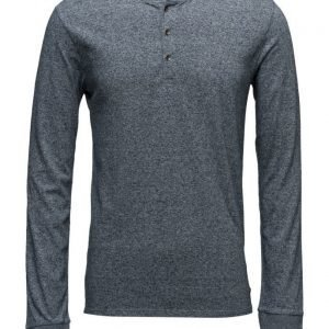 Scotch & Soda Longsleeve Grandad Tee In Cotton Quality pitkähihainen t-paita